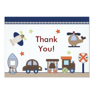 Here, There, Everywhere Boy Thank You Card