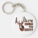 Here to Hunt! Keychain