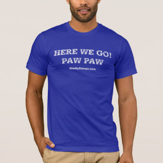 Here We Go Adult T-Shirt Blue