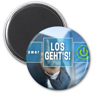 Here we go (german los gehts) touchscreen concept 2 inch round magnet