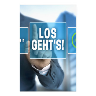 Here we go (german los gehts) touchscreen concept stationery