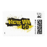 Here We Go Postage Stamp