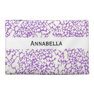 Here You GO Purple Leopard Print Travel Accessory Bag