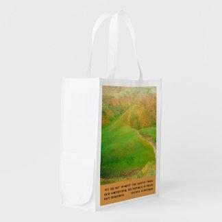 Herede la tierra bolsa reutilizable