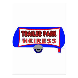Heredera del parque de caravanas tarjeta postal