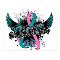 Hereditary Breast Cancer Awareness 16 Postcard