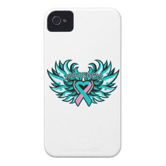 Hereditary Breast Cancer Awareness Heart Wings iPhone 4 Covers
