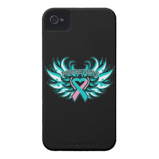 Hereditary Breast Cancer Awareness Heart Wings iPhone 4 Case-Mate Cases