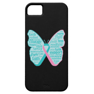 Hereditary Breast Cancer Butterfly Collage of Word iPhone 5 Covers
