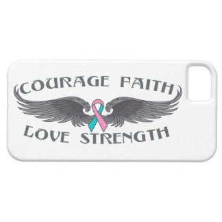 Hereditary Breast Cancer Courage Faith Wings iPhone 5 Cover