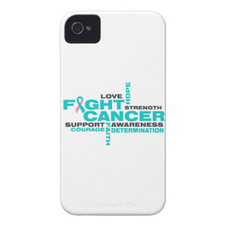 Hereditary Breast Cancer Fight Collage iPhone 4 Cases