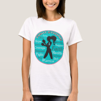 Hereditary Breast Cancer Fight Strong Collage T-Shirt