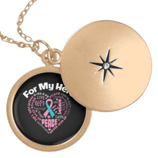 Hereditary Breast Cancer For My Hero Pendant