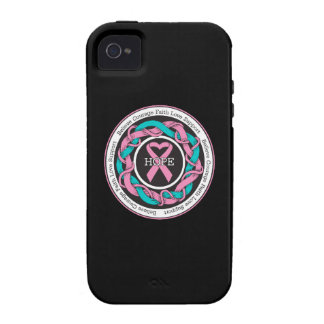 Hereditary Breast Cancer  Hope Intertwined Ribbon iPhone 4 Cover