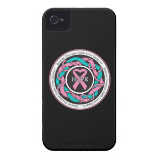 Hereditary Breast Cancer  Hope Intertwined Ribbon iPhone 4 Case-Mate Case