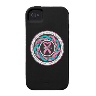 Hereditary Breast Cancer  Hope Intertwined Ribbon Case-Mate iPhone 4 Cover