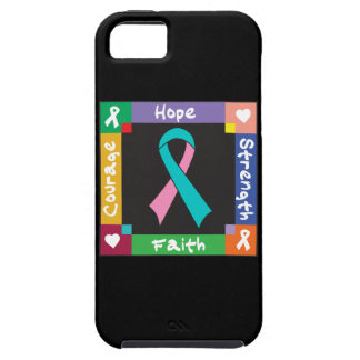 Hereditary Breast Cancer Hope Strength Faith iPhone 5 Covers