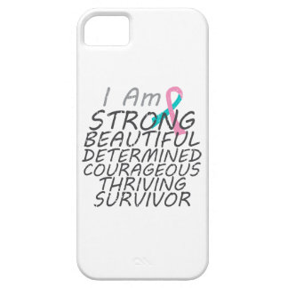 Hereditary Breast Cancer  I Am Strong Survivor iPhone 5 Cover