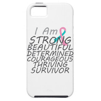 Hereditary Breast Cancer  I Am Strong Survivor iPhone 5 Covers