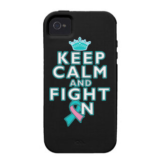 Hereditary Breast Cancer Keep Calm Fight On Case-Mate iPhone 4 Case