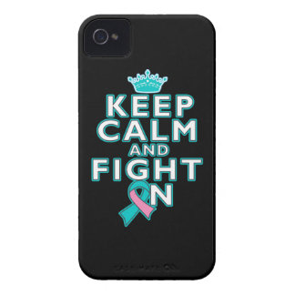 Hereditary Breast Cancer Keep Calm Fight On iPhone 4 Covers