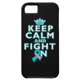 Hereditary Breast Cancer Keep Calm Fight On iPhone 5 Cases