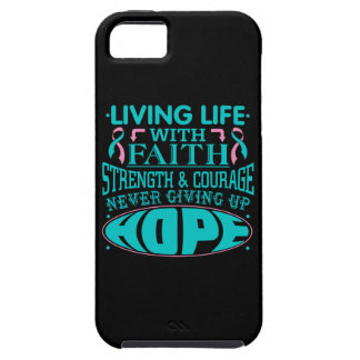 Hereditary Breast Cancer Living Life with Faith iPhone 5 Covers