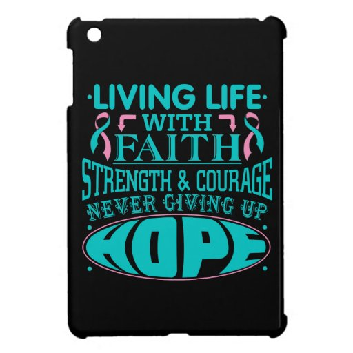 Hereditary Breast Cancer Living Life with Faith iPad Mini Covers