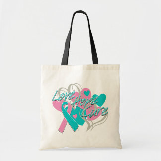 Hereditary Breast Cancer Love Hope Cure Canvas Bags