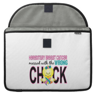 Hereditary Breast Cancer Messed With Wrong Chick MacBook Pro Sleeves