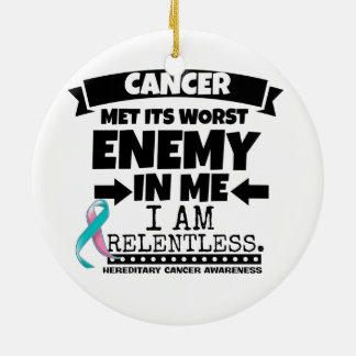 Hereditary Breast Cancer Met Its Worst Enemy in Me Ceramic Ornament