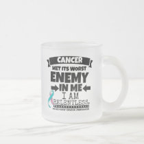 Hereditary Breast Cancer Met Its Worst Enemy in Me Frosted Glass Coffee Mug