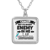Hereditary Breast Cancer Met Its Worst Enemy in Me Silver Plated Necklace