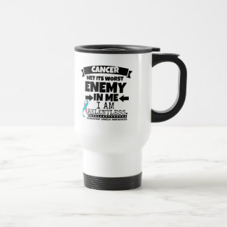 Hereditary Breast Cancer Met Its Worst Enemy in Me Travel Mug