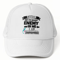 Hereditary Breast Cancer Met Its Worst Enemy in Me Trucker Hat