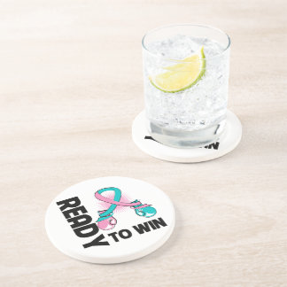 Hereditary Breast Cancer Ready To Win Beverage Coaster