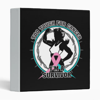 Hereditary Breast Cancer Too Tough For Cancer 3 Ring Binder