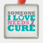 Hereditary Breast Ovarian Cancer Need A Cure Christmas Ornaments