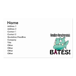 Hereditary Hemochromatosis BITES Double-Sided Standard Business Cards (Pack Of 100)