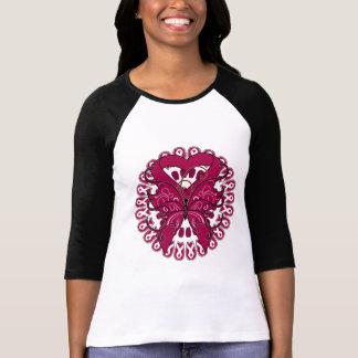 Hereditary Hemochromatosis Butterfy Heart Ribbon Tee Shirt
