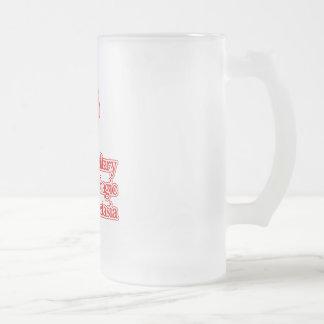 Hereditary Hemorrhagic Telangiectasia Frosted Glass Beer Mug