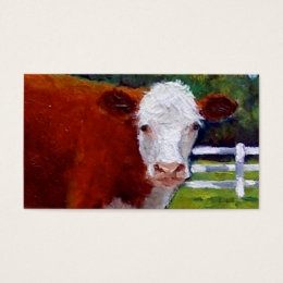 HEREFORD BEEF BUSINESS CARD