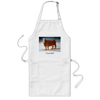 HEREFORD BEEF COW: PASTEL PAINTING: SNOW LONG APRON