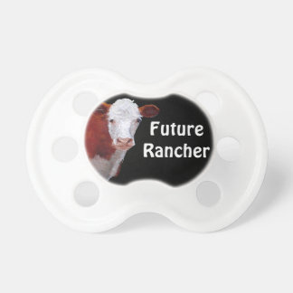 Hereford Beef: Future Rancher: Painting, Art BooginHead Pacifier