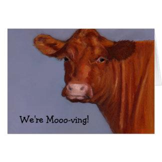 Hereford Beef: Pastel Painting: We're Moo-ving! Card