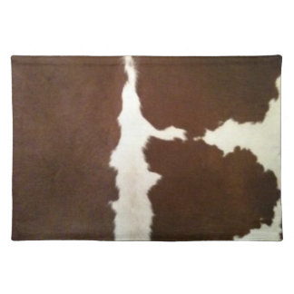 Hereford Brown y falso zurriago blanco Placemat Manteles