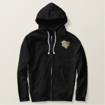 Hereford Bull Head Embroidered Hoodie