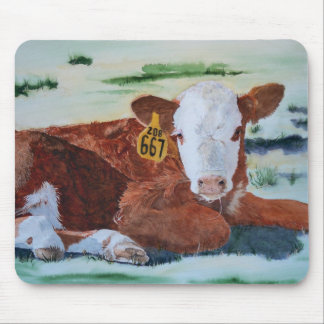 Hereford Calf Mouse Pad