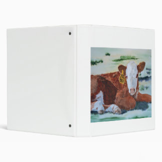 Hereford Calf Vinyl Binder