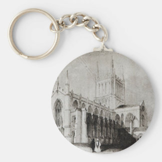 Hereford Cathedral Basic Round Button Keychain